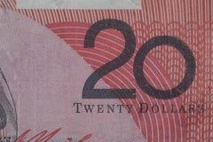 Vinte dólares de conta Imagem de Stock