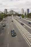 Vinte e Tres de Maio Avenida - Sao Paulo - Brasil Fotografia de Stock Royalty Free