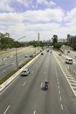 Vinte e Tres DE Maio Avenue - Sao Paulo - Brazilië Royalty-vrije Stock Fotografie