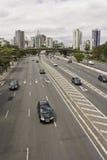 Vinte e Tres de Maio Aveny - Sao Paulo - Brasilien Royaltyfri Fotografi