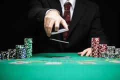 Vinte-e-um em um jogo de jogo do casino Foto de Stock Royalty Free