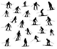 Vinte esquiadores um Foto de Stock Royalty Free