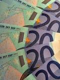 Vinte euro- notas de banco Fotografia de Stock