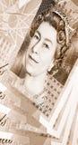 Vinte nota de banco (de 20) libras Fotografia de Stock