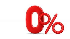 Vinte por cento no fundo branco 3d isolados rendem ilustração stock