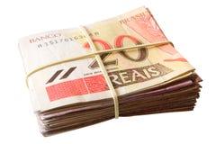 Vinte reais - dinheiro brasileiro Fotografia de Stock Royalty Free