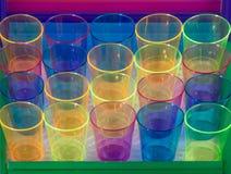 Vinte vidros coloridos Fotos de Stock