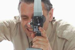 Vintege filming camera Royalty Free Stock Photos