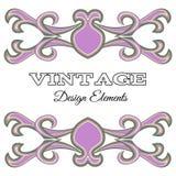 VintegeElements-17. Calligraphic design elements and page decoration. Purple Vintage floral elements for design. Vector decorative design elements Royalty Free Stock Photos