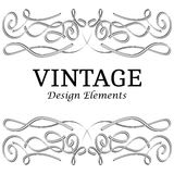 VintegeElements-31. Calligraphic design elements and page decoration. Vintage elements for design on a white background. Vector decorative design elements Royalty Free Stock Photography