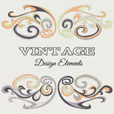 VintegeElements-02. Vintage frame with abstract branches. Floral invitation card Royalty Free Stock Photo