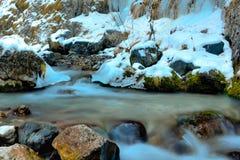 Vinter över dolomitesna, Italien Arkivfoto