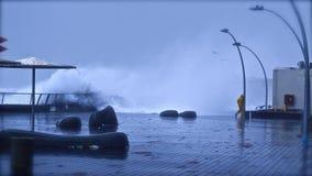 vinter 2010 för telefon för storm för avivdecember port Arkivfoton