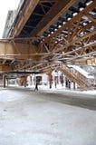 vinter 2011 för chicago snowstorm Arkivfoto