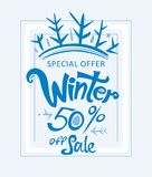 Vinter 50% av försäljning Royaltyfri Foto