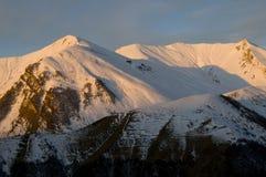 Vinter - Caucasus berg Royaltyfri Foto