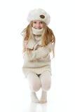 vinter för 2 flicka royaltyfri foto