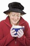 vinter för 2 soup arkivfoto
