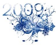 vinter för 2009 design stock illustrationer