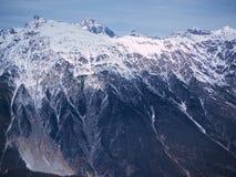 Vinter för alpint landskap för berg österrikisk Arkivfoto