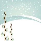 vinter för bakgrundsillustrationvektor Royaltyfria Bilder