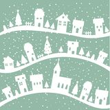 vinter för bakgrundsjulby royaltyfri illustrationer