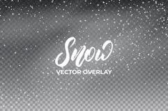 vinter för bakgrundsvägsnow Realistisk snösamkopiering Garnering för snö för vinterjul och för nytt år stock illustrationer