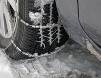 vinter för bilhjul Royaltyfri Foto