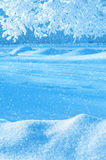 vinter för blåa snowflakes för bakgrund vit Royaltyfri Foto