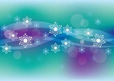 vinter för blåa snowflakes för bakgrund vit Royaltyfria Bilder