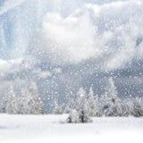 vinter för blåa snowflakes för bakgrund vit Arkivbilder