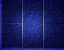 vinter för bluepanelfönster Arkivfoto
