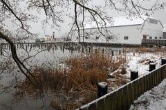 Vinter för Britannia arvskeppsvarvar, Richmond Arkivbilder