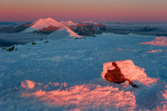 vinter för caucasus georgia gudauriberg Royaltyfri Fotografi