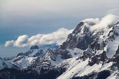 vinter för caucasus georgia gudauriberg Arkivfoton