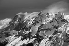vinter för caucasus georgia gudauriberg Royaltyfria Bilder