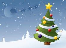 vinter för designbildtree stock illustrationer