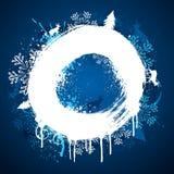vinter för designmålarfärgcirkel Arkivfoton