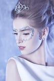 vinter för drottning för makeup för idérikt mode för konst hög key Royaltyfri Bild