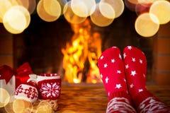Vinter för ferie för julXmas-familj Arkivfoton