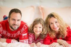 Vinter för ferie för julXmas-familj Arkivbilder
