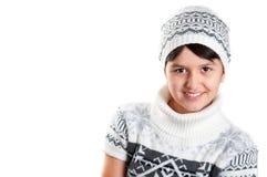 vinter för flickahattomslag Royaltyfri Bild