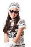 vinter för flickahattomslag Royaltyfria Foton