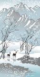 vinter för fyra säsonger Arkivbilder