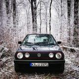 vinter för golf mk2 arkivfoton