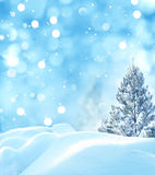 vinter för illustration för bakgrundsjuldesign Arkivfoton