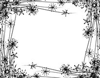 vinter för kantblommaträdgård vektor illustrationer