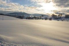 vinter för landshus royaltyfri foto