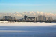 vinter för ligganderyssby Royaltyfri Bild