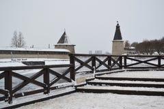 vinter för ligganderyssby Royaltyfri Foto
